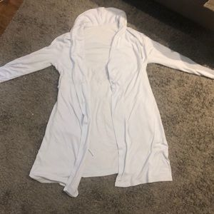 light blue bath robe